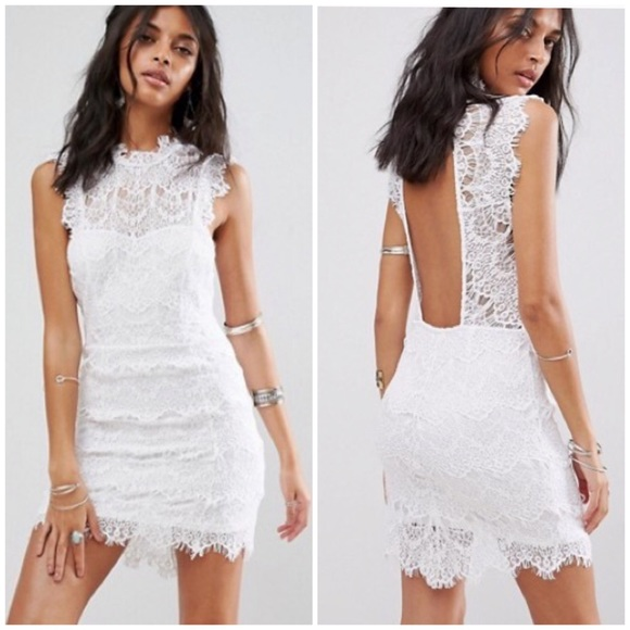 Free People Dresses & Skirts - Intimately Free People white lace Daydream dress